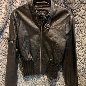 Bebe black faux leather Moto jacket